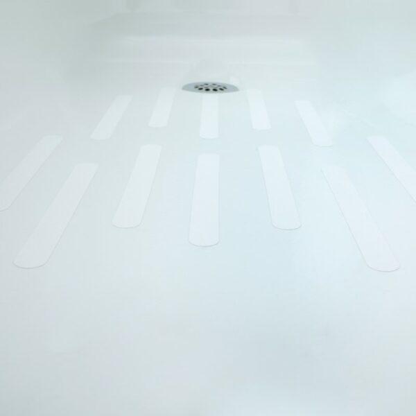 white treads in bathtub