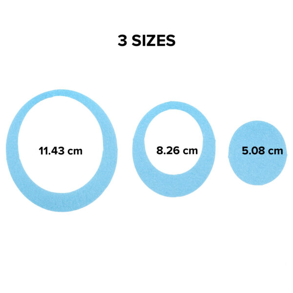 blue oval bathtub treads available in three sizes