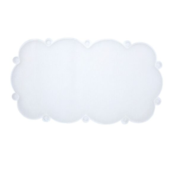 cloud bath mat on white background