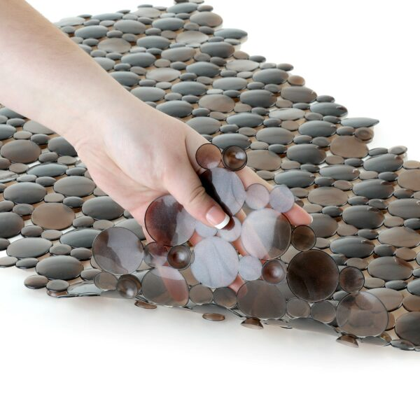 bronze bath mat with suction cups