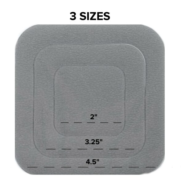 gray bathtub non-slip stickers sizes