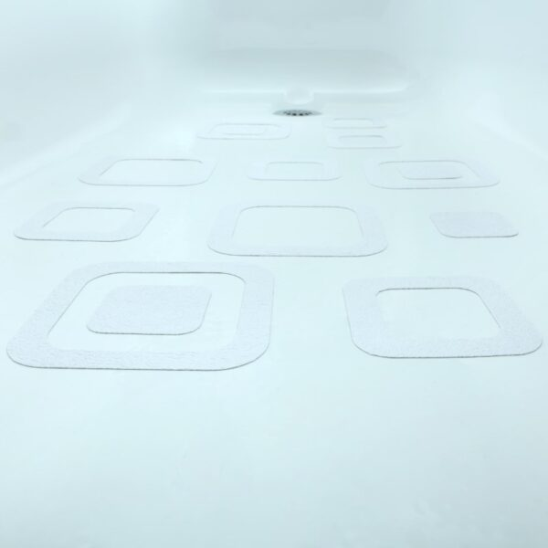white square bathtub non-slip stickers