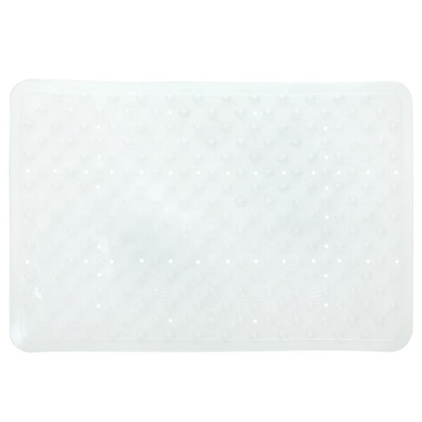 clear essential bath mat on white background