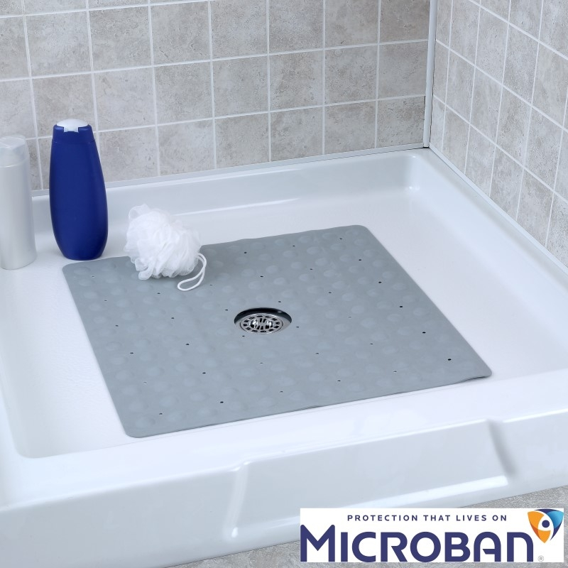 Square Rubber Shower Mat Mildew
