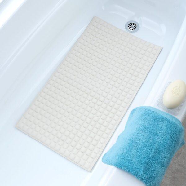 Cream Pillow Top Bath Mat In Context