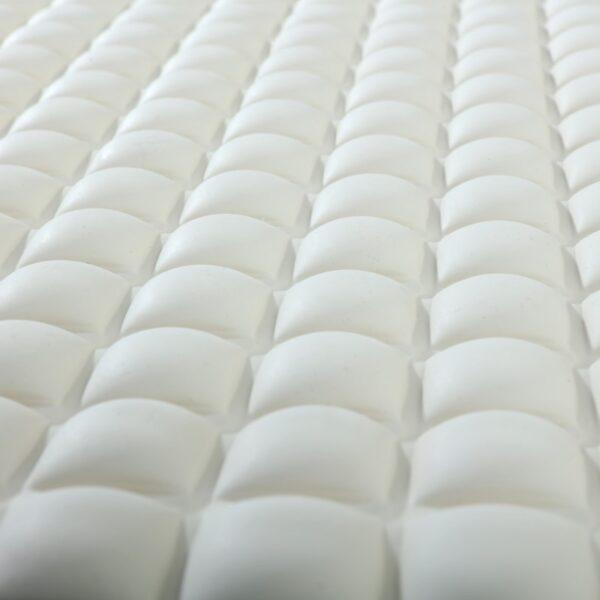 Cream Pillow Top Bath Mat Close Up