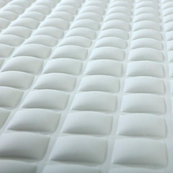 Gray Pillow Top Bath Mat Close Up