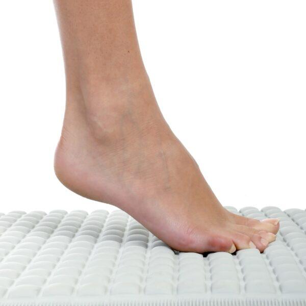 Gray Pillow Top Bath Mat Foot Shot 4