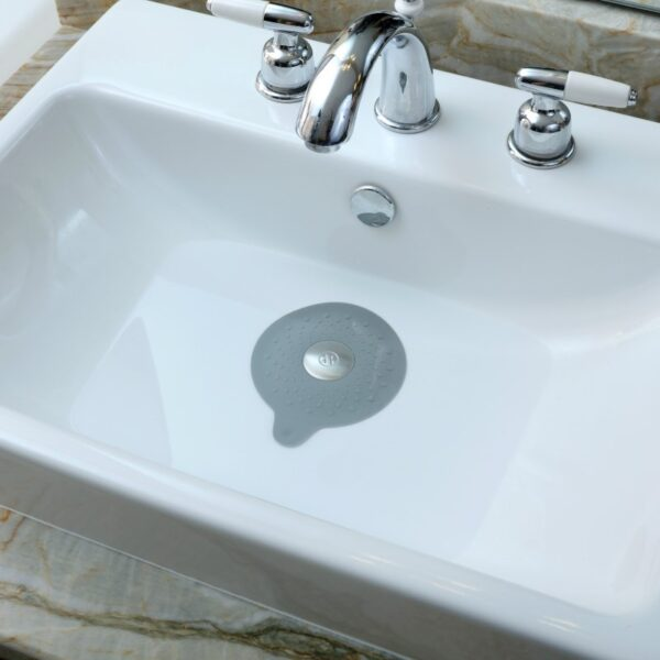 Seal-Tight-Drain-Stopper-Gray-Bathroom-Sink
