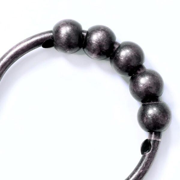 Easy Roller Oil Rubber Bronze Shower Ring - Beads
