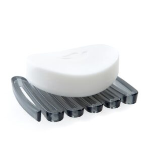 Zig-Zag-Soap-Saver-Dark-Gray-With-Soap