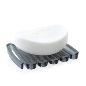 Zig-Zag-Soap-Saver-Dark-Gray-With-Soap