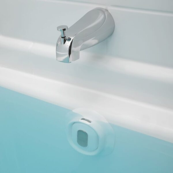 bathtub overflow drain cover in tub