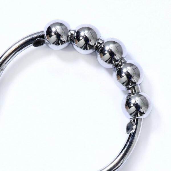 Easy Roller Chrome Shower Ring - Beads