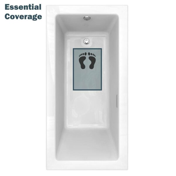 clear essential bath mat fits small tubs and showers