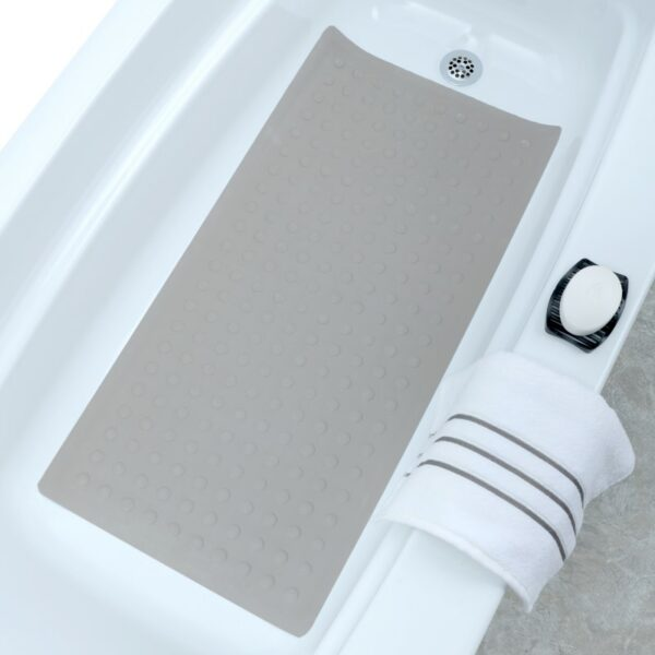 tan extra long rubber bath mat