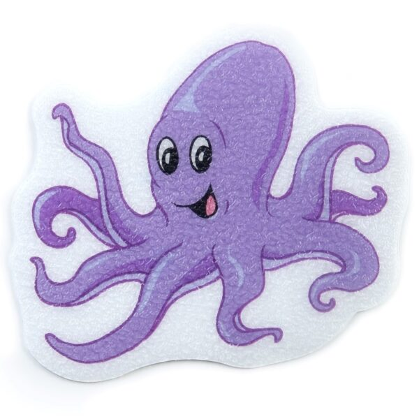 octopus tread applique on white background