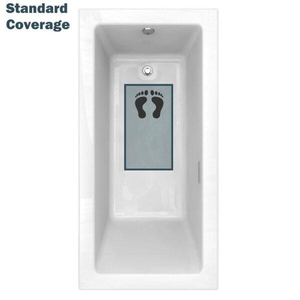 standard tub coverage