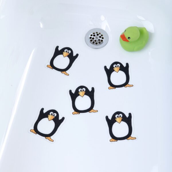 penguin bath treads in tub