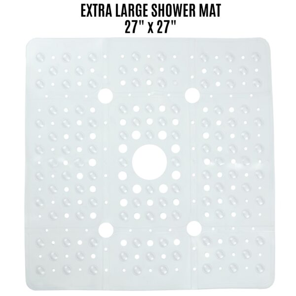 clear extra large shower mat